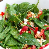Spinach Salad with Peppers